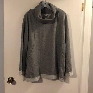 Caslon gray sweatshirt.
